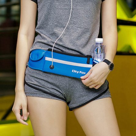 Waterproof Running / Gym Waist bag with earphone hole and bottle holder
