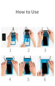 How to use Naturehike waterproof TPU smartphone bag