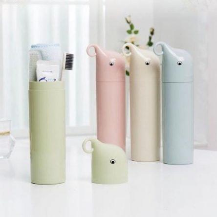 Waterproof container, towel, toothbrush, toothpaste waterproof tube