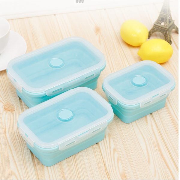 3 pcs Silicone food storge box