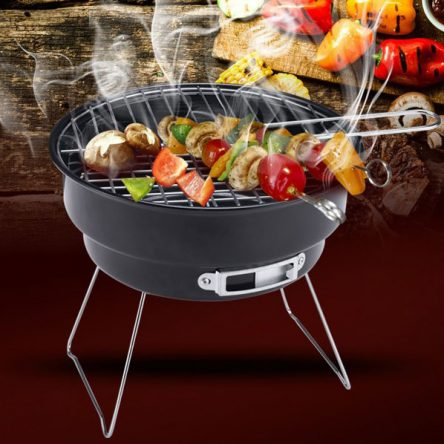 Handheld small BBQ Grill with coolar bag