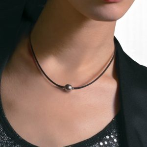 Phiten X100 Titanium Necklace Mirror Ball
