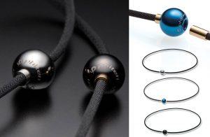 Phiten X100 男女合用鏡面球飾水溶鈦頸椎保健項鍊