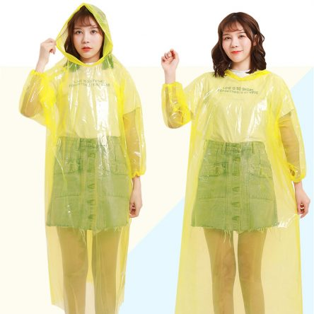 Convenient Super Light Disposable Unisex Adult Raincoat