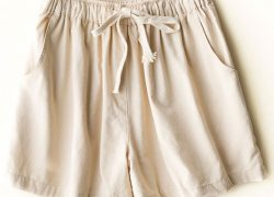 Woman linen Cotton Relaxed shorts