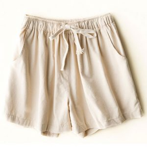 woman cotton linen shorts