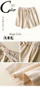 woman cotton linen shorts
