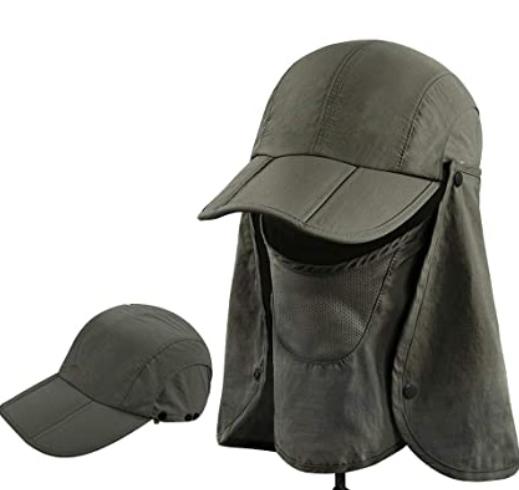 Sun hat With Head Net Mesh Face Protection Sun Flap