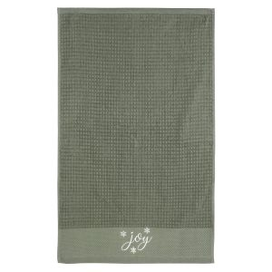 christmas face towel (army green color)