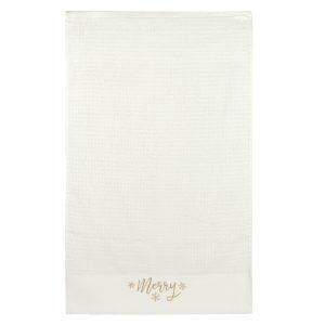 christmas face towel (light cream color)