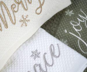 christmas face towel