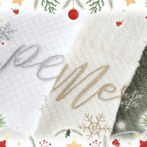 christmas towels set