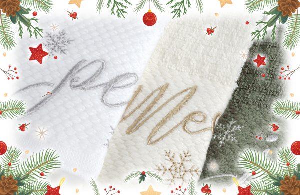 christmas towels set